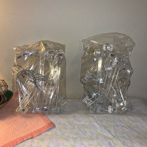 21 clear plastic pant hangers- retail type clamps
